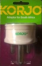 KORJO Travel Adaptor from AUSTRALIA/NZ to SOUTH AFRICA + parts x PAKISTAN INDIA