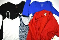 Faded Glory and No Boundaries Women's Size L(12-14) Tops Various Styles Lot of 5