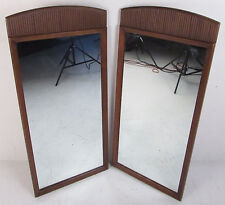 Pair of Mid-Century Modern Mirrors by Lane Furniture (8437)NJ