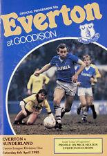 Everton v Sunderland Division 1 06-04 1985 Programme