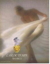 Publicité Advertising 016 1985 Nina Ricci l'Air du temps par D.Hamilton