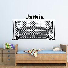 Personalised Football Goal Wall Art Vinyl Sticker Boys Bedroom Decor