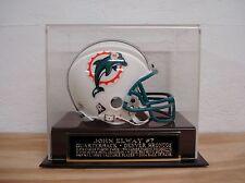 Football Mini Helmet Display Case With A John Elway Broncos Engraved Nameplate