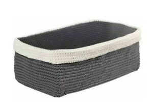 InterDesign - NWT Gray/Ivory Hand Knit Tank Tray (for Toilet Paper Or Towels)