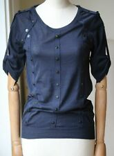 BURBERRY STUDDED KNIT SHORT SLEEVE TOP SMALL