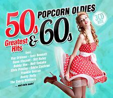 CD Popcorn Oldies: 50s & 60s Greatest Hits von Various Artists 3CDs