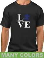 Love Puzzle Shirt Autism Awareness T-Shirt Autism Society Support Tee