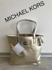 Diseñador de Oro Precioso Michael Kors Bolso De Mano Bolsa Shopper!!! nuevo!!!
