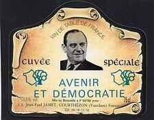 ETIQUETTE VIN DE TABLE DE FRANCE CUVEE POMPIDOU 75 CL              §22/07/17§