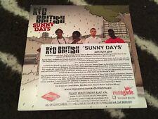 KID BRITISH- Sunny Days 2 Track Rare Promo CD