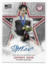 JOHNNY WEIR 2018 Topps U.S. Olympic Champions Flag Parallel AUTOGRAPH  2/25