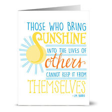 24 Note Cards - Bring Sunshine - Yellow Envs
