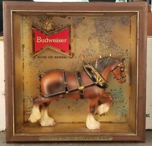 """1950's Budweiser  Lighted """" Famous Clydesdale Horse""""  Sign.. Anheuser Busch"""