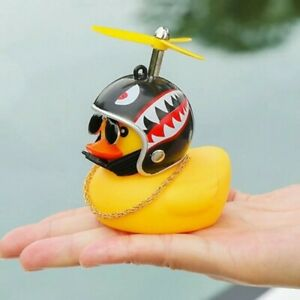 Cute Rubber Yellow Duck Toy Kids Gifts Car Ornaments Home Decoration With Glue