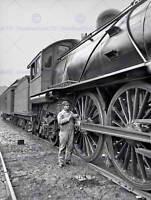 VINTAGE PHOTOGRAPHY TRANSPORT LOCOMOTIVE ENGINE STEAM USA FINE ART PRINT CC2413