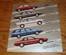 Original 1988 Subaru Full Line Deluxe Sales Brochure 88 XT Justy Coupe Sedan
