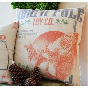 """North Pole Toy Co Santa Large 20"""" Christmas Throw Pillow Primitives By Kathy"""