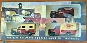 Lledo British Railways Service Vans 1950s Limited Edition Days Gone Diecast Set