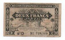 ALGERIA 2 FRANCS 1944 PICK 99 LOOK SCANS
