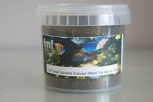 FMF Spirulina Granular Fish Food 366ml Tub Approx 200g Suitable For all Fish