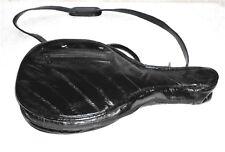 Vintage Genuine Eel Skin Black Racquetball Racquet Case Shoulder Strap