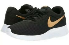 Nike Tanjun Women's Black/Metallic Gold Shoes Size 12 NWB