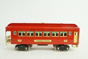 Lionel Standard Gauge Classics 325 Observation Passenger Car 6-13402
