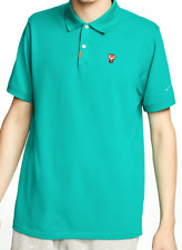 "Nike Golf Polo Tiger Woods ""Frank"" Neptune Green S-2XL CJ0880-370 100% Authentic"