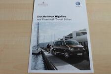 99219) VW Bus T5 Multivan Highline Romantik Travel Paket Prospekt 02/2012