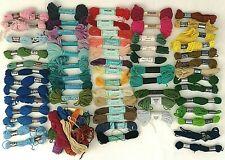 Crewel Embroidery VTG Mixed Wool LOT 50+ Appleton DMC Bernat Anchor Patons Etc