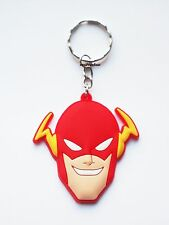 The Flash Keyring Bagcharm Keychain Zip puller Rubber PVC UK Seller
