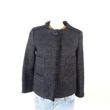 ZARA Jacke Jacket Blazer Boucle Schwarz Glitzer Gr. S 36