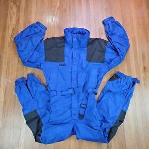 Vintage 90s Columbia Snow Suit Sz L Retro One Piece Ski Snowbkard Snowsuit