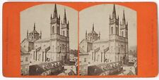 VINT.1880s WIEN Albumin Stereo*Lerchenfelderkirche