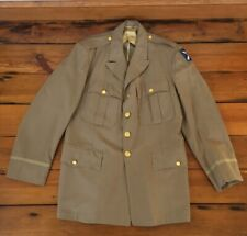 Vintage Korea 1950s Army Officer Uniform 21st Army Corp Khaki Blazer Jacket 42
