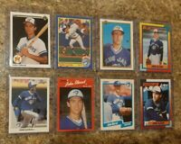 (8) John Olerud 1990 Leaf Upper Score Topps Fleer Bowman Rookie Card Lot RC Jays