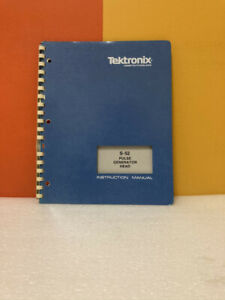 Tektronix 070-1101-01 S-52 Pulse Generator Head Instruction Manual