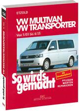 VW T5 BUS Multivan Reparaturanleitung Reparaturbuch Jetzt helfe ich mir selbst