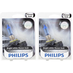 2 pc Philips Low Beam Headlight Bulbs for Honda Accord Civic CRX Odyssey ie