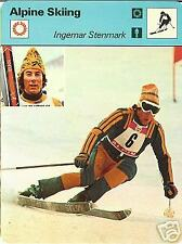 INGEMAR STENMARK ALPINE SKIING 1977 FOCUS ON SPORTS CARD