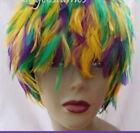Mardi Gras Hackle Feather Costume  Dance Wigs Halloween Wig Costume (GA, USA)
