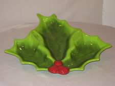 "NEW St. Nicholas Square  ""Holly Jolly"" Large 3 Section Serving Tray Platter Dish"