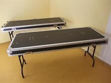 2 TISCHE IN CASE-AUSFÜHRUNG (162x62 cm) incl. Rollen Klapptisch-Case ROADINGER