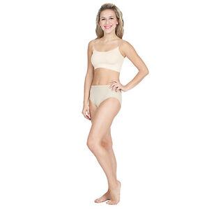 Capezio 3533 Women's XLarge (14-16) Nude Bra Liner w/ Clear Adjustable Straps