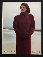 1985 Vintage Print Ad PERRY ELLIS Coats Fashion Pose Merfeld Photo 80's Style