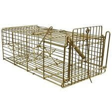 NEW RAT CAGE TRAP GALVANISED STEEL TRAP NO POISON EASY SET UP HUMANE FREE POST