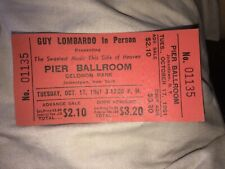 1961 UNUSED GUY LOMBARDO PIER BALLROOM, CELORON PARK,JAMESTOWN,NY TICKET