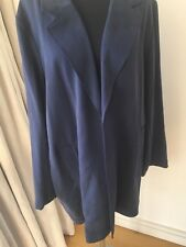MARKS AND SPENCER NAVY Cardigan Relaxed COAT / JACKET SIZE 24  NEW £59