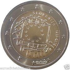 Moneta commemorativa 2 euro SLOVENIA 2015 30ème compleanno. del bandiera Europea