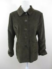 Per Una (M&S) jkt. Size 18. Brown (with green tinge) Corduroy. RRP.£45